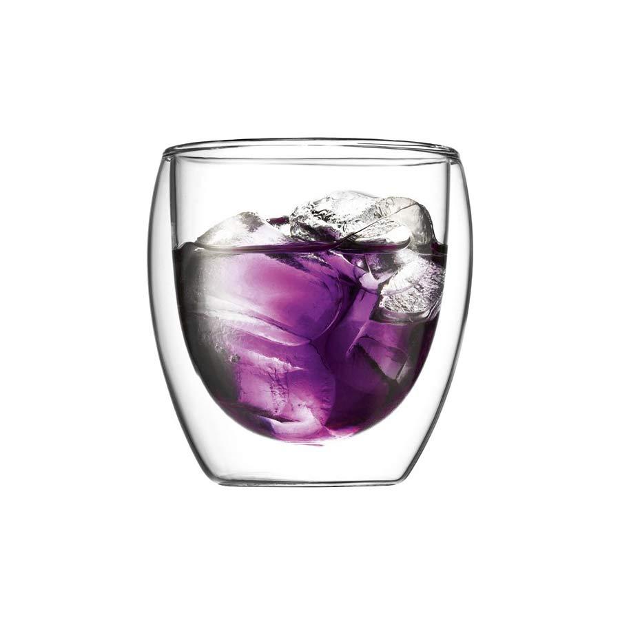 2 Tasses Bodum Pavina Thermoglass 25cl