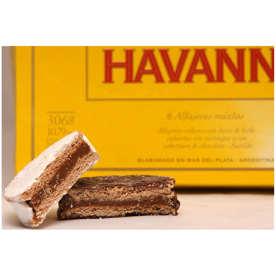 6 Alfajores Havanna, biscuit traditionnel argentin