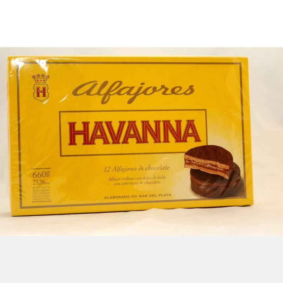 Alfajores Havanna 12 biscuits au chocolat
