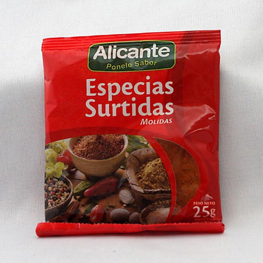 Assortiment d'épices moulu Alicante 25g