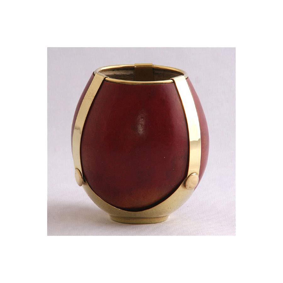 Calebasse artisanale teintée base dorée