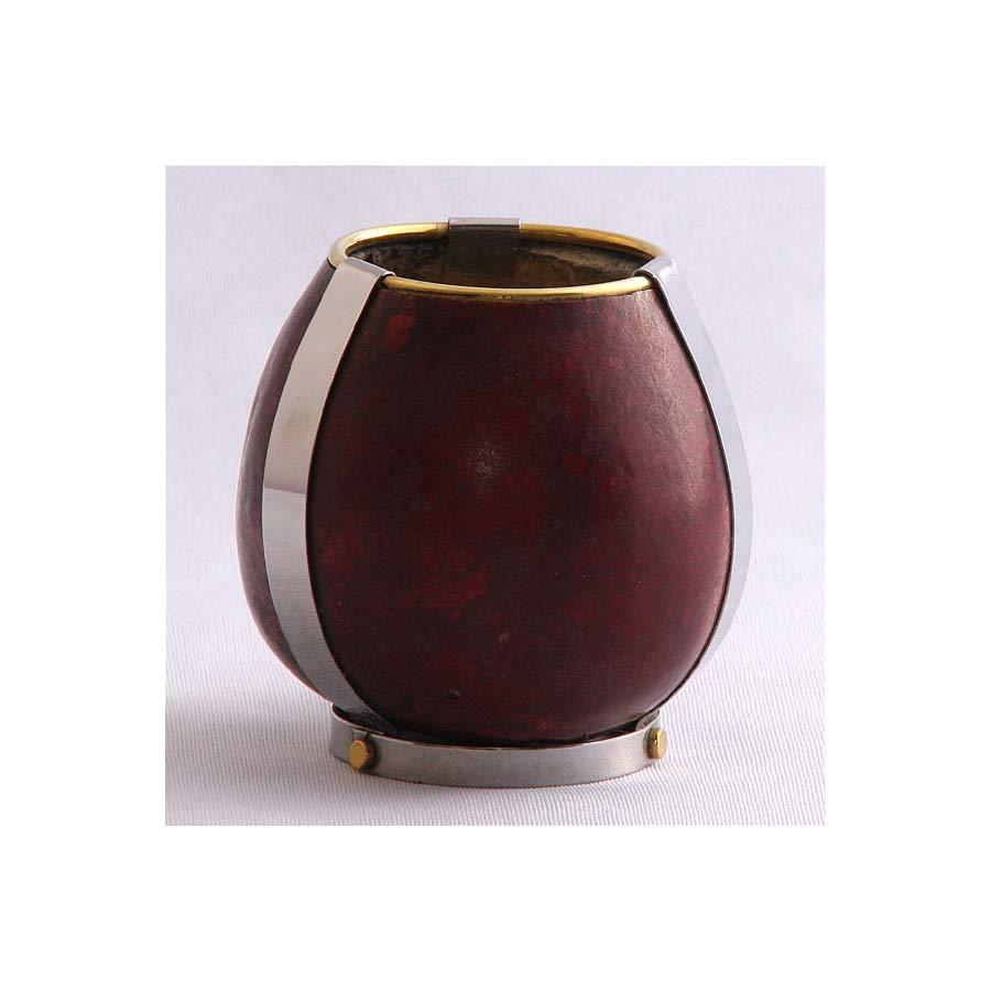 Calebasse teintée base inox artisanale