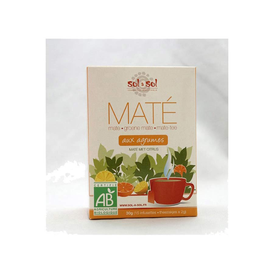 Infusettes Yerba Maté Sol A Sol agrumes