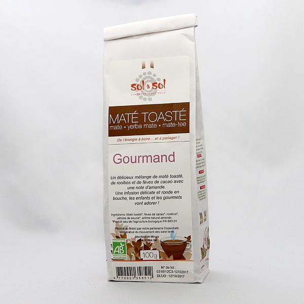 Yerba Mate bio toasté Gourmand Sol a Sol 100g