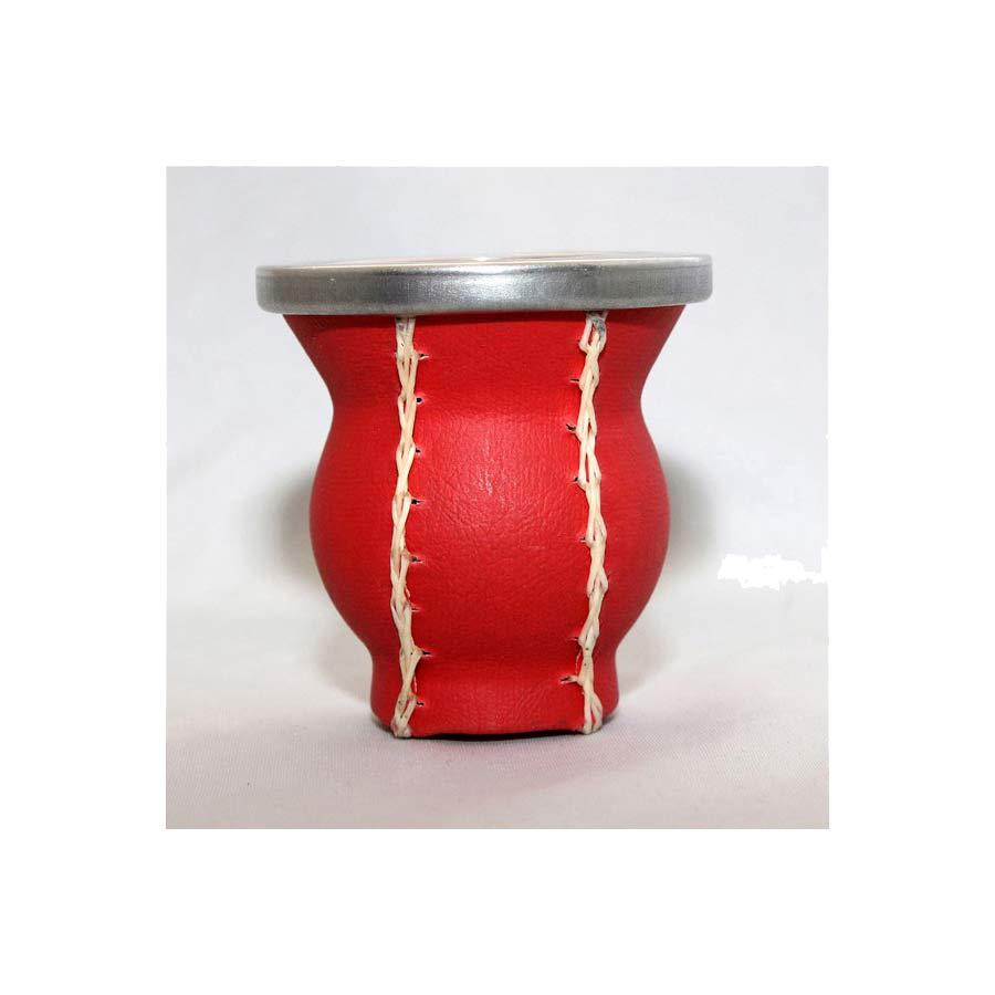 Pot à maté en céramique et cuir