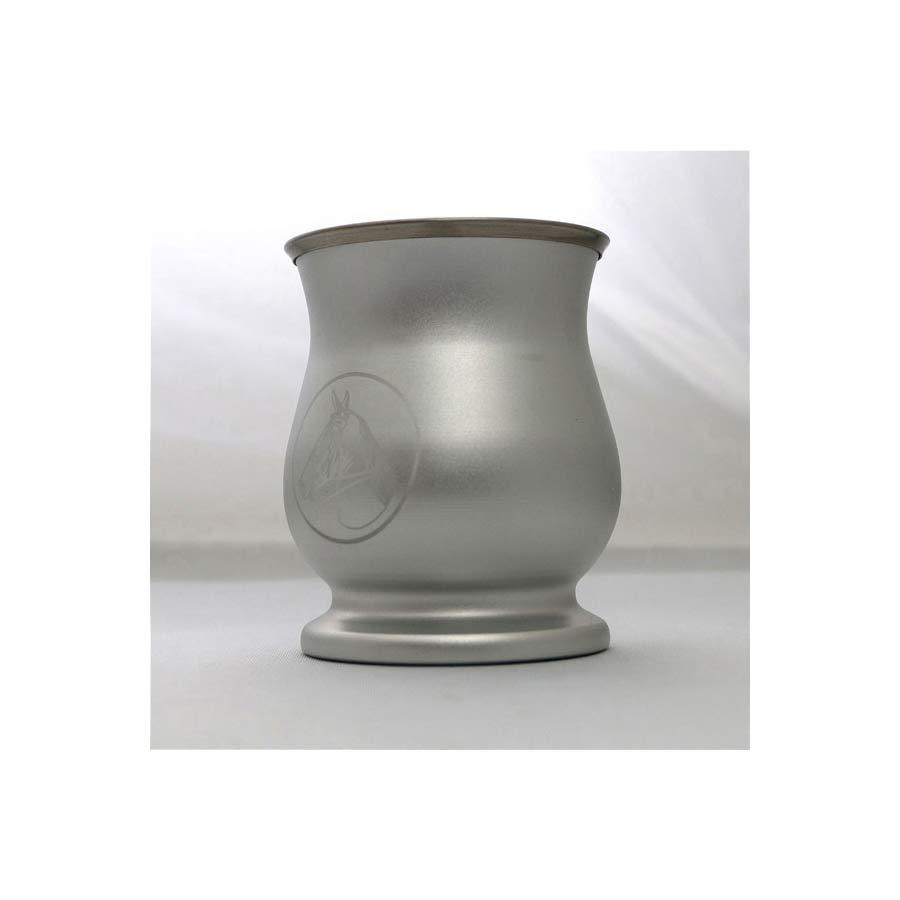 Pot à maté métal , décor cheval