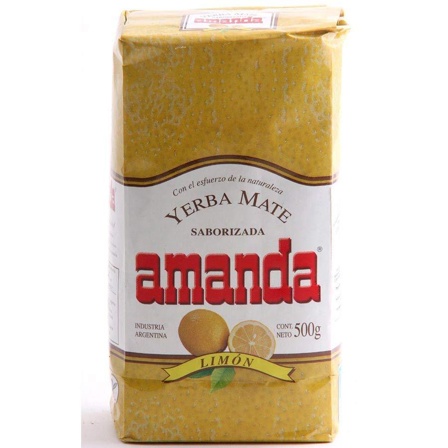 Yerba maté Amanda aromatisé au citron en paquet de 500g : Amanda Limon