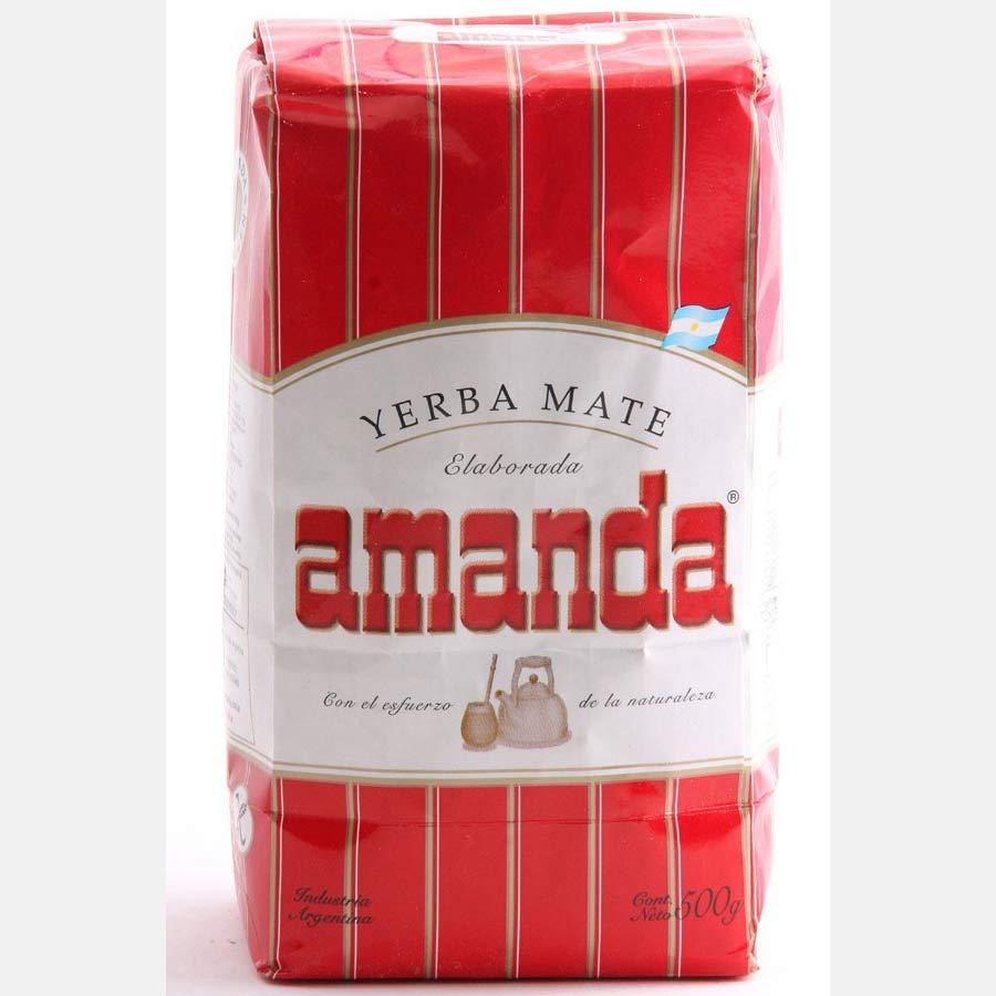 Yerba Maté traditionnelle Amanda, marque très populaire en Argentine en paquet de 500g