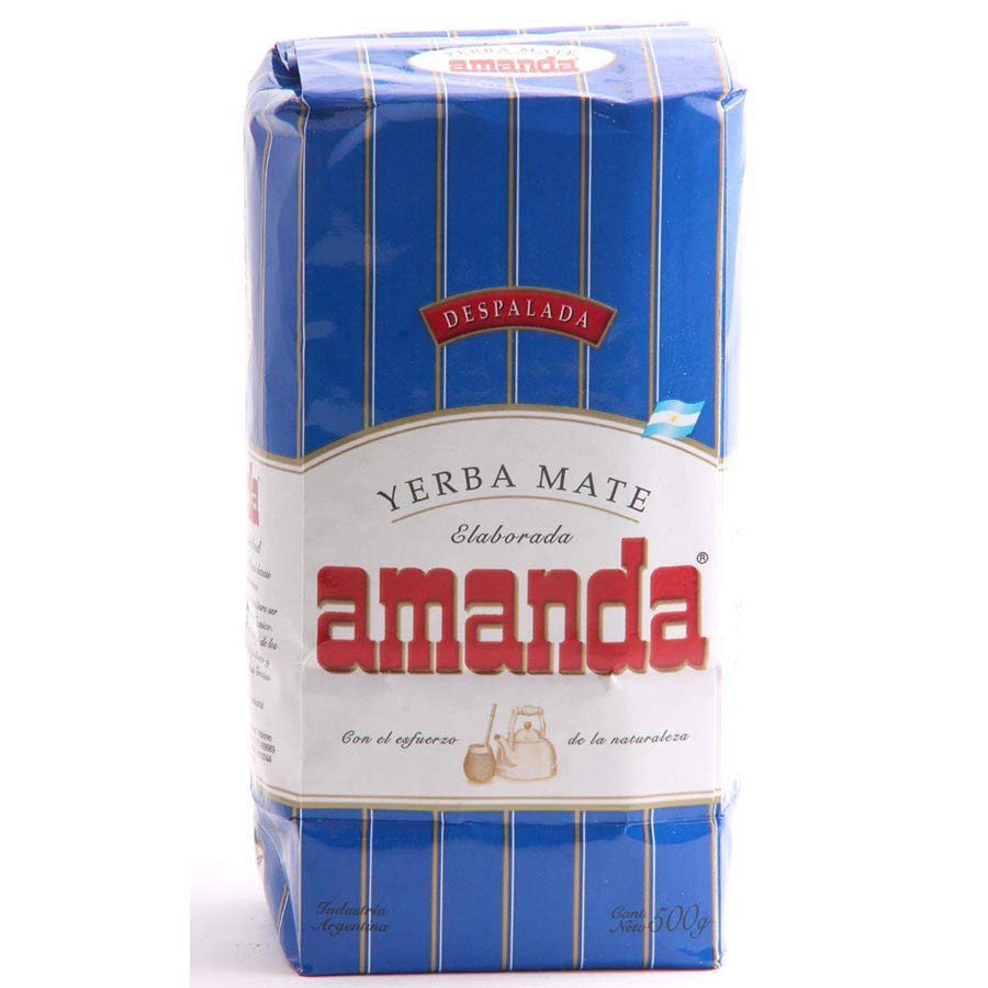 Yerba Maté Amanda despalada , sans tige qui apporte un gout plus fort.