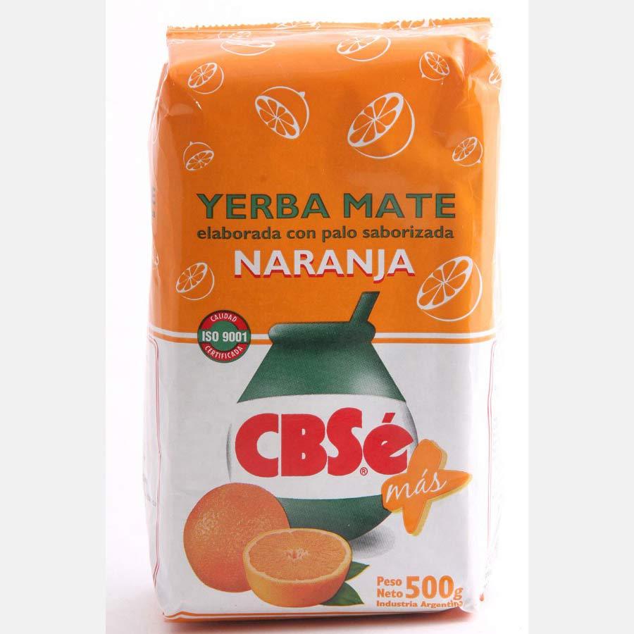 Yerba Maté CBSe aromatisée à l'orange, Naranja : paquet de 500g