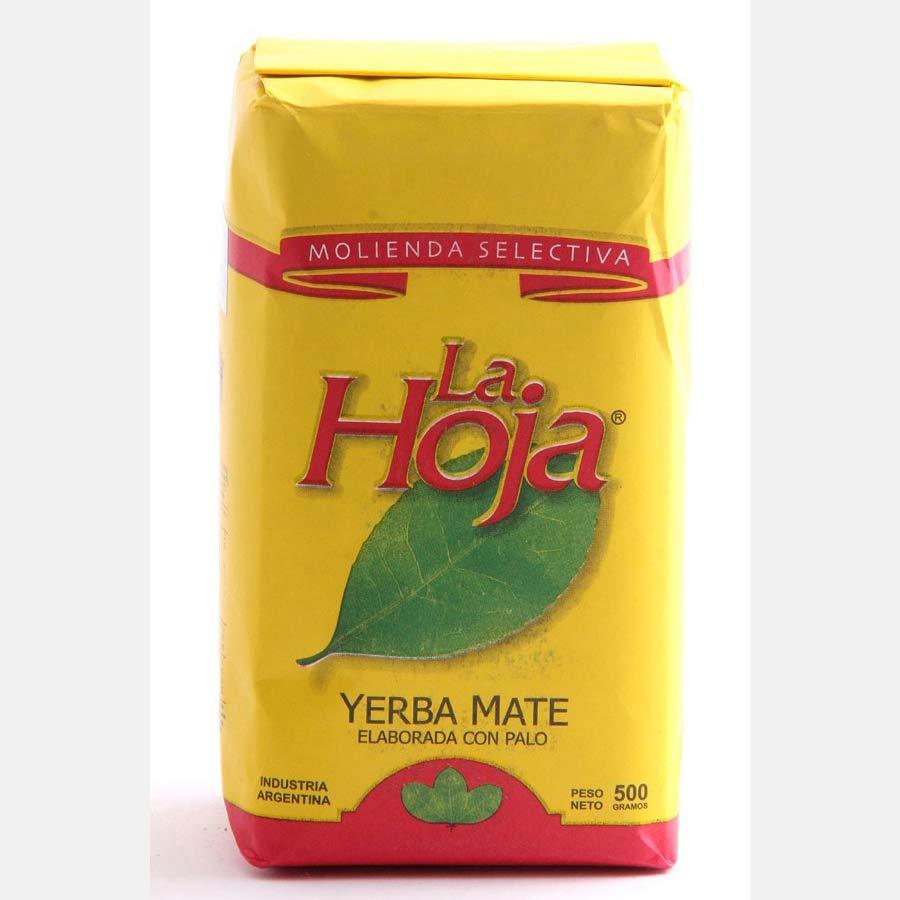 Yerba Maté d'Argentine en vrac marque La Hoja ; paquet de 500g