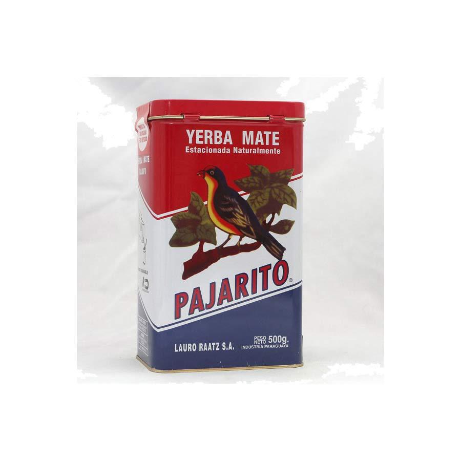Yerba maté du Paraguay, paquet de 500g Parajito dans une boite métallique