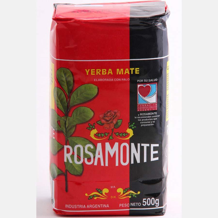 Yerba Maté traditionnelle en vrac d'Argentine, marque Rosamonte en paquet de 500g