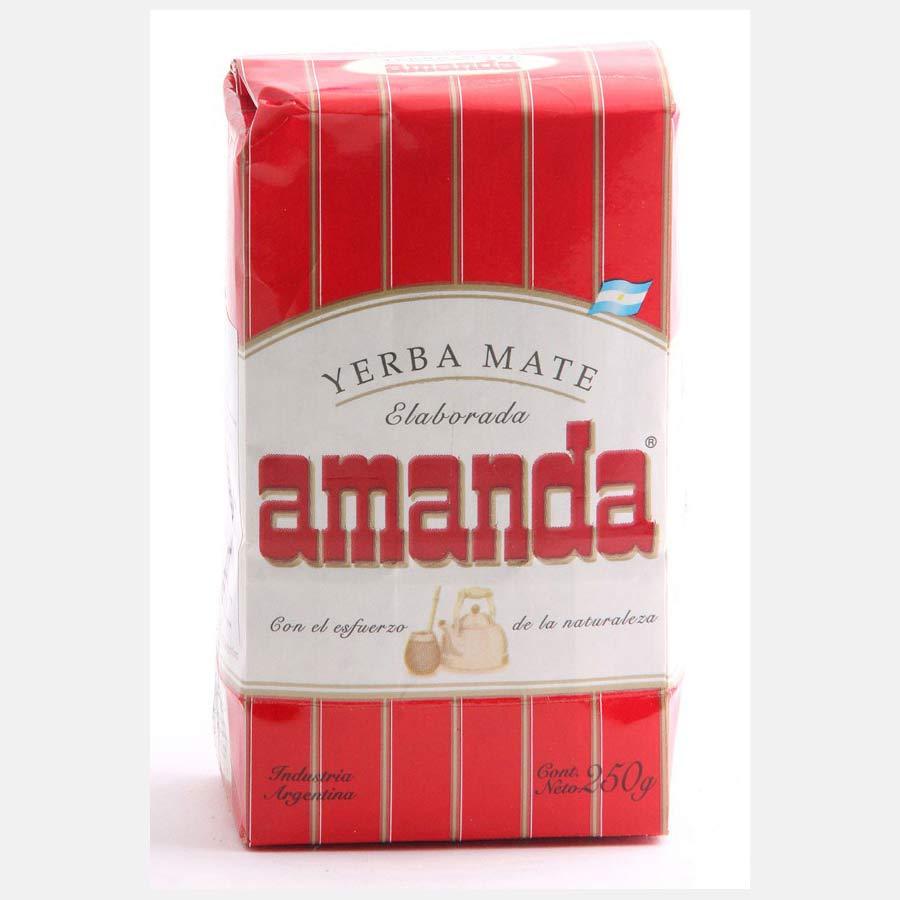 Yerba Maté Amanda en paquet de 250g, idéal pour débutant à la consommation de maté